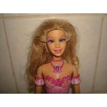 Boneca Fada Barbie Borboleta Rosa C/ Cilios - Mattel 2005.