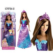 Boneca Barbie Princesas Morena Cff24 Mattel