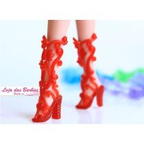 Sandália Gladiadora Para Boneca Barbie * Sapatinho Fashion