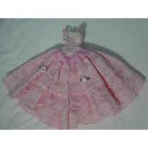 Vestido De Festa Para Boneca Barbie Ou Similares Usado!