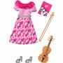 Roupinha E Acessórios Barbie Quero Ser Professora De Música