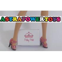 Sandalia Rosa Sapatos Para Barbie