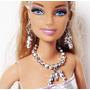 Joias Bijuteria Boneca Barbie - Brinco E Colar Prateado