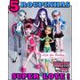 Super Lote * 5 Roupas / Vestidos Para Boneca Monster High !