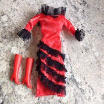 Vestido E Bota Boneca Barbie.