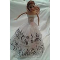 Vestidos Roupinhas Luxo Barbiee Similares Boneca Festa Noiva