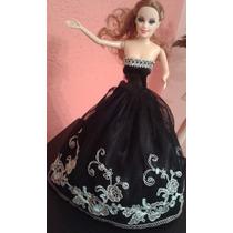 Vestido E Roupa Luxo Barbie E Similar Boneca Festa+brinde