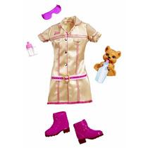 Roupa Barbie Uniforme Quero Ser Treinadora Veterinária R7597