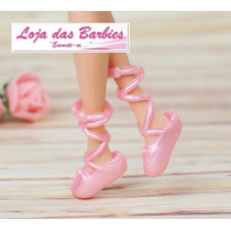 Sapatilha De Bailarina P/ Barbie * Ballet * Sapatinho Mattel