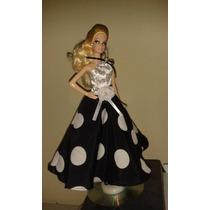 Vestido P/boneca Barbie Em Boas