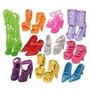 Kit Com 20 Pares De Sapatos Da Barbie