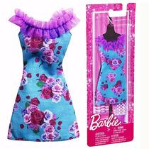 Roupinha Vestido Barbie Mattel Cartela De Roupa Fashionistas