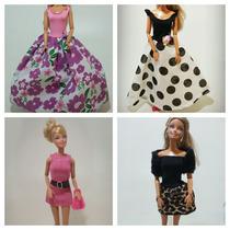 Roupas Para Boneca Barbie Vestboneca Kits Com 4 Peças