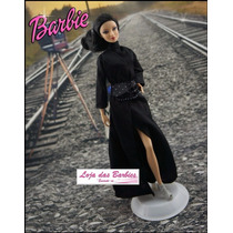 Fantasia P/ Boneca Barbie Vampira Gótica * Crepúsculo Roupa