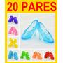 Kit Com 20 Pares De Sapatos Para Boneca Barbie * Sapatinho