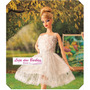 Vestido Bailarina Luxo P/ Boneca Barbie + Sapato * Ballet