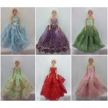 Vestido Luxo P/ Boneca Barbie Fashion Casamento Gala Glamour