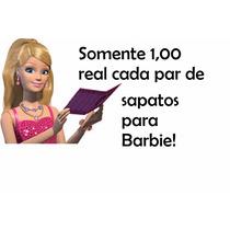 Kit Luxo Lote 5 Pares Sapatos Boneca Barbie Sapatinho L20