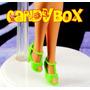 Sapatinho De Luxo Para Boneca Barbie : Sapato Verde Citrico
