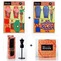 Kit Corte E Costura Eu Estilista Roupas De Boneca 30 Cm