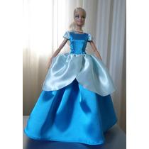 Vestido Para Boneca Barbie*cinderela*