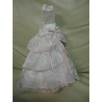 Vestido Barbie Princesa Mattel Branco Noiva Longo Brilho