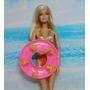 Bóia De Praia Piscina Para Boneca Barbie * Kelly * Miniatura