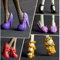 Lote Com 5 Pares De Sapatinhos Para Monster High * Sapato
