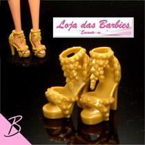 Sapatinho De Luxo P/ Barbie * Sapato Original Boneca Mattel