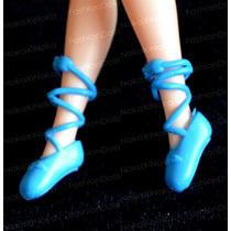 Sapatinho Para Boneca Barbie * Sapatilha De Ballet * Azul
