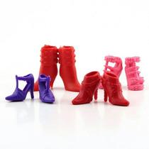 Kit Lote Com 12 Pares De Sapatos P/ Boneca Barbie Sapatinhos