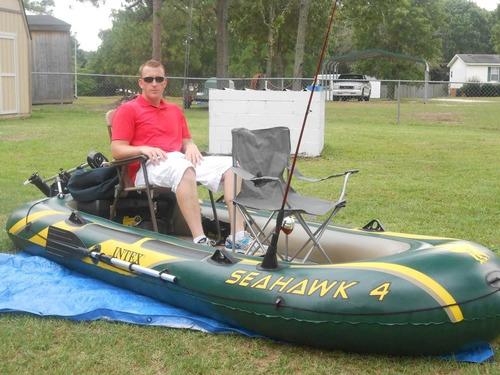 Barco Bote Inflável Seahawk 4 P/ 4-5 Pessoas - 400kg Intex