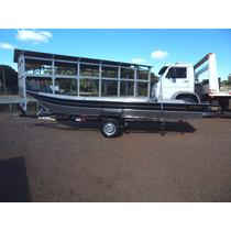 Barco De Alumínio Fortboat Life 600 5,9m Novo Somente Casco