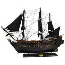 Miniatura Fragata Black Pearl Grande Em Madeira - 120x90 Cm