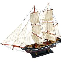 Fragata Grande 2 Mastros Em Madeira