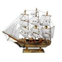 Miniatura Barco Caravela Madeira Decorativa Promoção C13