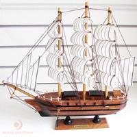 Barco Caravela Decorativo 30cm Marrom Réplica Em Madeira