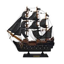 Miniatura Fragata Black Pearl Média Em Madeira