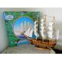 Barco Caravela Decorativo 28cm Réplica Navio Em Madeira