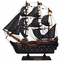 Navio Barco Fragata Pirata Caravela Perola Negra 33cm