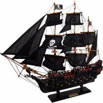 Navio Barco Fragata Pirata Caravela Perola Negra 48cm