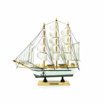 Barco Caravela Decorativo 30 Cm Réplica Em Madeira