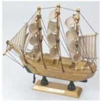 Barco Veleiro Em Madeira 20 Cm Presentes Brinquedos Crianças