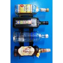 4g - Adega Suporte 4 Garrafas Vodka Vinho Whisky Garrafeira