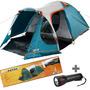 Barraca Camping Nautika Indy 4/5 Pessoas Impermeável Avanço