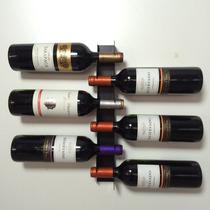 Suporte Prateleira Porta 6 Garrafas De Vinho Adega