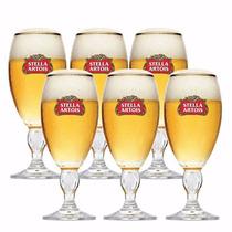 6 Cálices Taça Copo Stella Artois 250ml Cerveja + Caixa