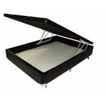 Base Cama Box Com Baú Casal 1,38 X 1,88 - Téta Flex