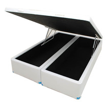 Cama Box Baú Bipartido Casal 188x138x040 Direto Da Fabrica