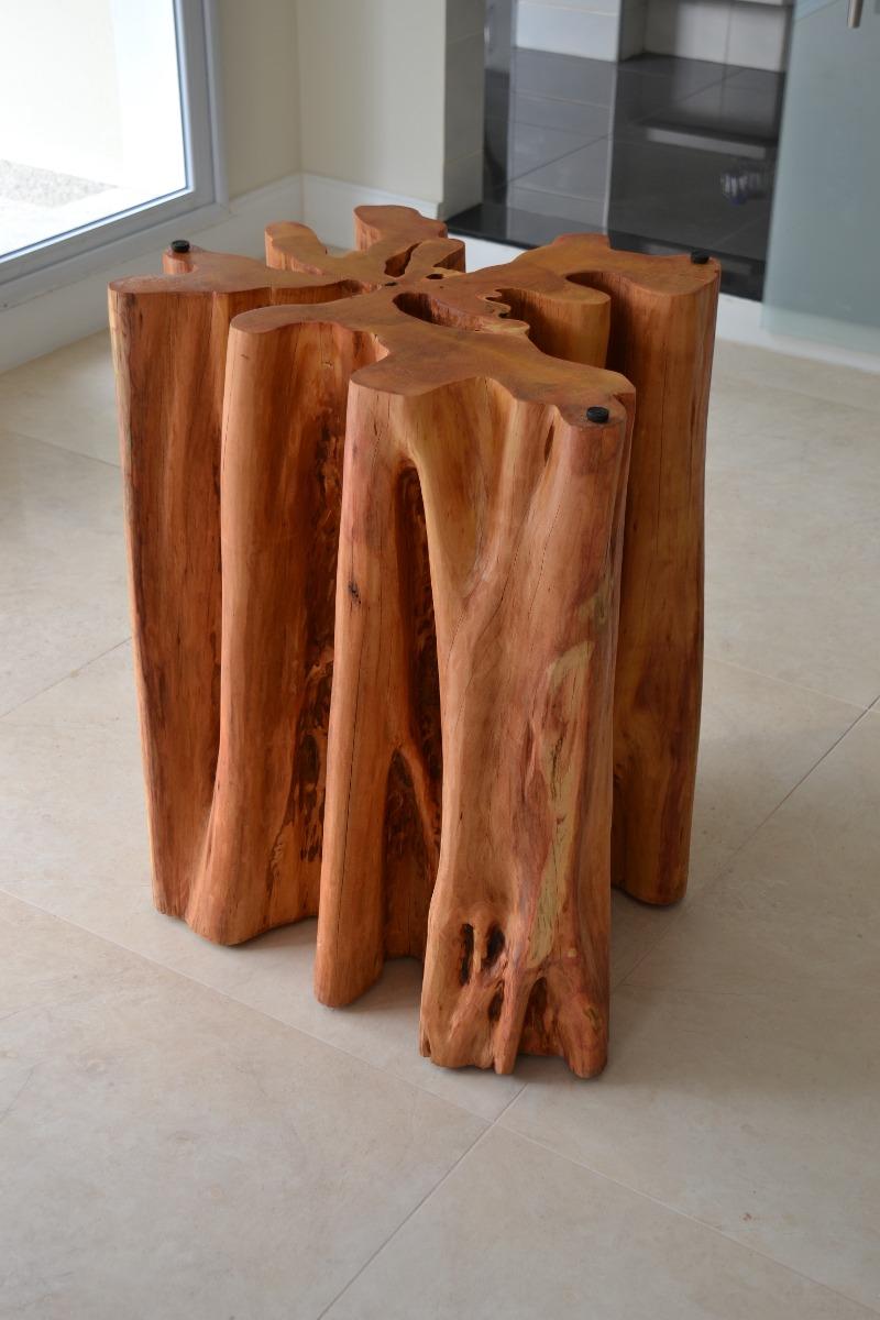 Base de mesa guarant tronco org nico r stico guarant - Mesa de tronco ...